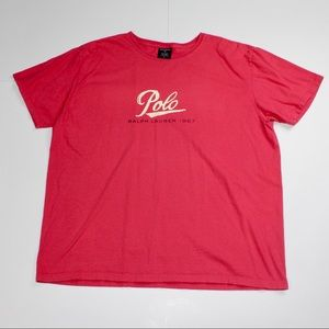 Vintage Polo Sport Spell out Script Logo T-shirt
